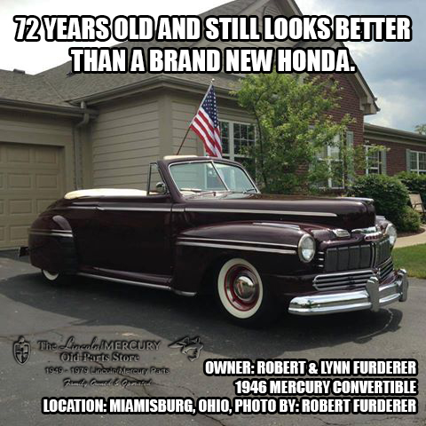 72 years old and still looks better than a brand new Honda.